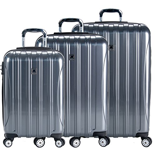 Delsey Luggage Helium Aero 3 Piece Spinner Luggage Set